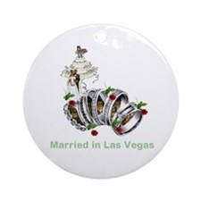 Married in Las Vegas Round Ornament