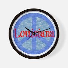 Louisiana Peace Wall Clock