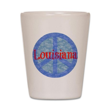 Louisiana Peace Shot Glass