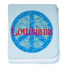 Louisiana Peace baby blanket