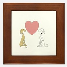 Greyhound Love Framed Tile