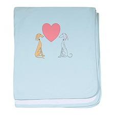 Greyhound Love baby blanket