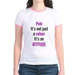 Pink Attitude Jr. Ringer T-Shirt