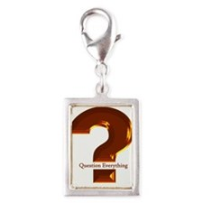 Question Everything Silver Portrait Charm