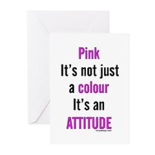Pink Attitude Greeting Cards (Pk of 10)