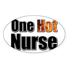 One Hot Nurse Decal