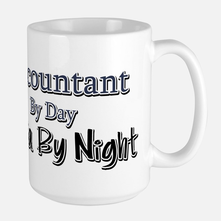 Accountant by Day Ninja by Night Large Mug