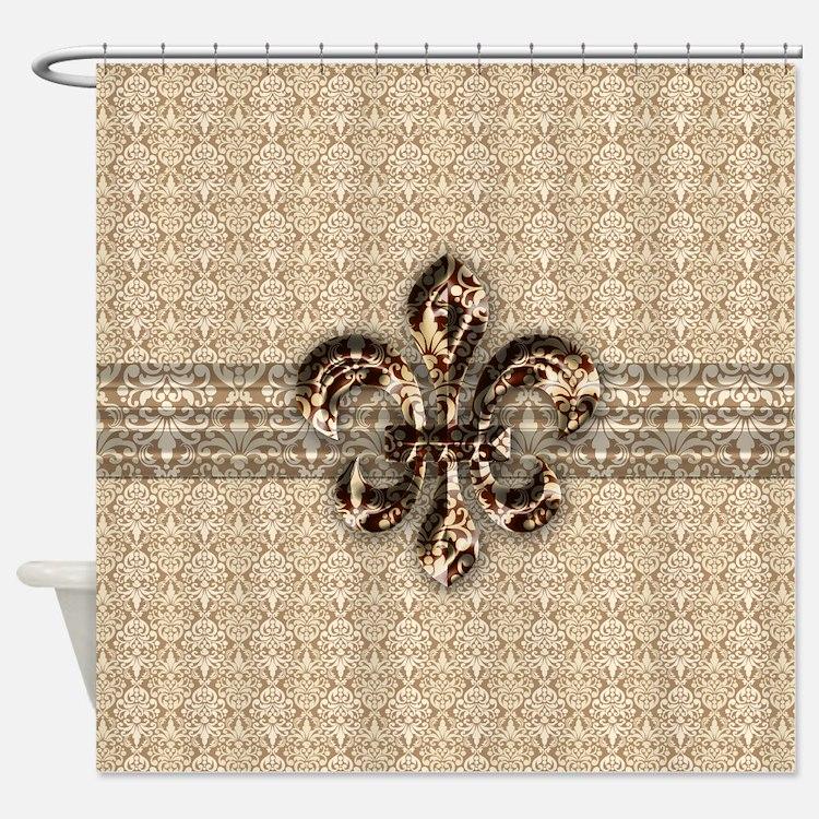 Fleur De Lis Shower Curtains Fleur De Lis Fabric Shower