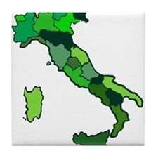 Map of Italy Tile Coaster
