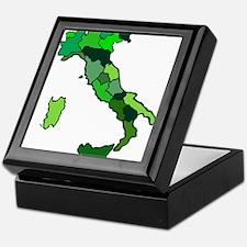 Map of Italy Keepsake Box
