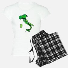 Map of Italy Pajamas