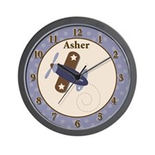 Zooming Along Airplane Clock - Asher Wall Clock