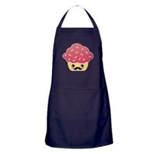 Kawaii Cupcake with Mustache Apron (dark)