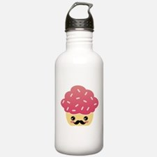 Kawaii Cupcake with Mustache Water Bottle