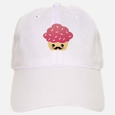 Kawaii Cupcake with Mustache Baseball Baseball Cap