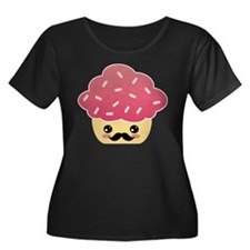 Kawaii Cupcake with Mustache T