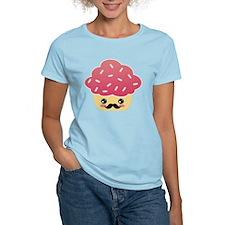Kawaii Cupcake with Mustache T-Shirt