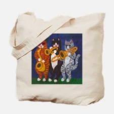 Cats Brass Section Tote Bag