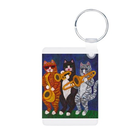 Cats Brass Section Aluminum Photo Keychain