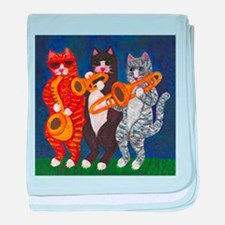 Cats Brass Section baby blanket