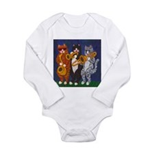 Cats Brass Section Long Sleeve Infant Bodysuit