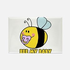 bee my baby cute baby bumble bee Rectangle Magnet