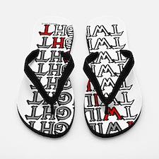 twilight cartoon text copy.png Flip Flops