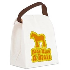 a retro make mine draft.png Canvas Lunch Bag