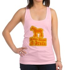 a retro make mine draft.png Racerback Tank Top