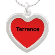 Terrence Red Silver Heart Necklace
