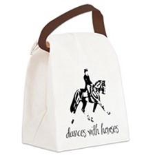 dressage dances with horses black.png Canvas Lunch