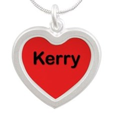 Kerry Red Silver Heart Necklace