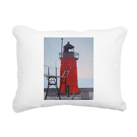 South Haven Lighthouse Rectangular Canvas Pillow