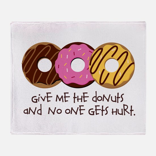 I love donuts! Throw Blanket