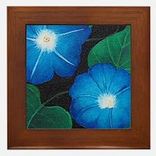 Morning Glory Framed Tile
