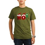 Ho Ho Ho Organic Men's T-Shirt (dark)