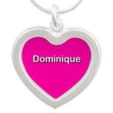 Dominique Pink Silver Heart Necklace
