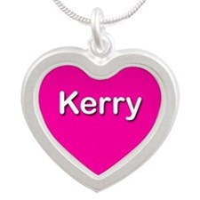 Kerry Pink Silver Heart Necklace