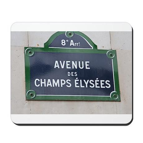 Champs Elysees sign Mousepad