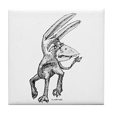Donkey bird Tile Coaster