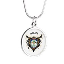 Belize Silver Round Necklace