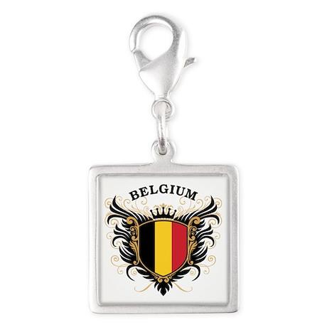 Belgium Silver Square Charm