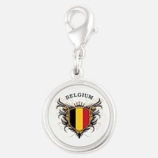 Belgium Silver Round Charm