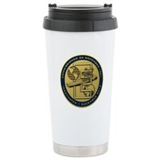 Gold CVN 65 Inactivation! Travel Mug