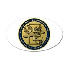 Gold CVN 65 Inactivation! Wall Decal