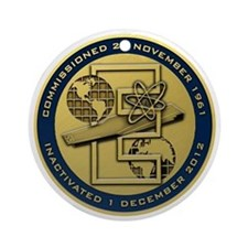 Gold CVN 65 Inactivation! Ornament (Round)