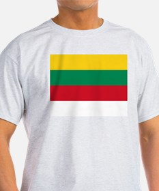 Lithuania Flag Picture Ash Grey T-Shirt