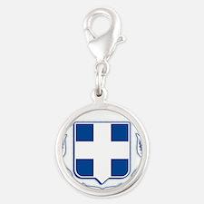 greek-crest-blue.png Silver Round Charm