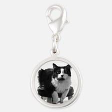 lolcat_bk.png Silver Round Charm