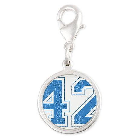 42.gif Silver Round Charm